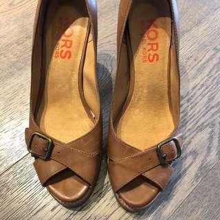 Michael Kors 蜜糖啡 platform 露趾高跟鞋