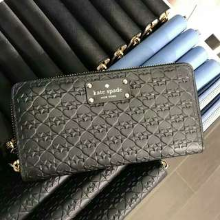 ♠Kate Spade embossed long wallet