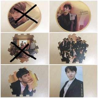 Wanna One Album Photocard, Tazo, Mirror Card
