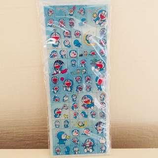 Doraemon thick jelly glitter stickers