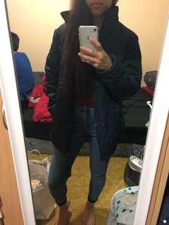 Navy blue winter jacket