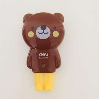 Brown bear cute corrector correction tape