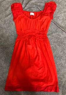 Zara One Piece Dress Orange Red 連身裙