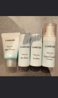🚚 Laneige White Dew Travel Kit (4pc set)