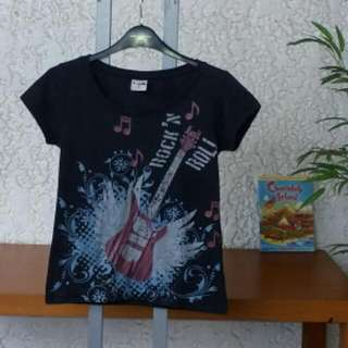 "Tee Party Girl's T-Shirt, ""Rock And Roll Design"" Size S"