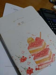 White plank desserts notebook