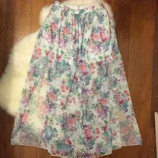 FREE POSTAGE FOREVER NEW 2-Split Maxi Skirt (RRP $79.99)