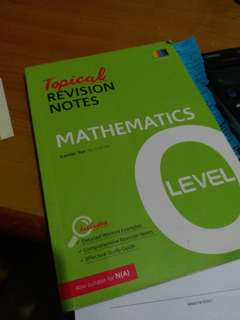 Maths o level revision notes (BN)
