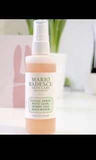 美國代購- Mario Badescu 玫瑰+藥草+蘆薈保濕噴霧
