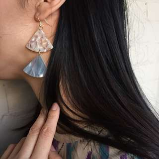 Acetate statement earrings