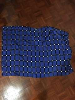 Plussize blue kaftan