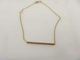 Rose gold bar bracelet