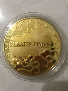 strait times dragon year coin