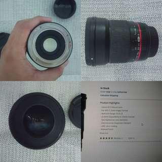 Rokinon 16mm f2.0 Ef-s (apsc) canon mount lens