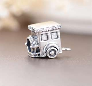 Code MS456 - Train 100% 925 Sterling Silver Charm, Chain Is Not Included, Compatible With Pandora, Total 4 pieces For A Set