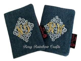 Exclusive Handmade Initials Passport Cover/Case