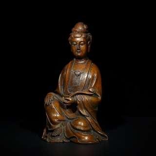 清代 竹雕如意觀音