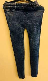 Blue jeans design jeggings