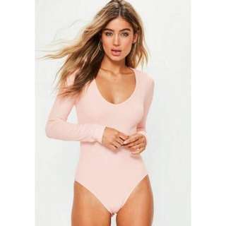 Bodysuit pink missguided