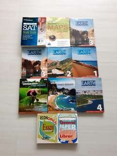 CLEARANCE: A level/SAT guidebooks and secondary school textbooks