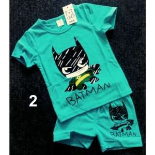 Batman Boy Baby Kids Children Top Pants Set