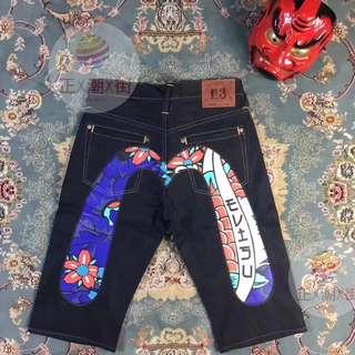 EVISU 日式風牛仔短褲
