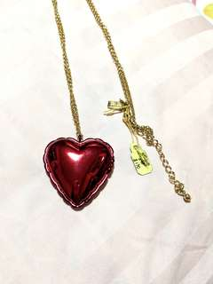 BN Kate Spade Be Mine Red Heart Locket Necklace