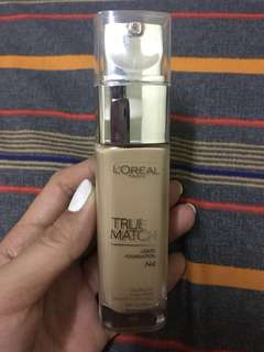 80-85%FULL! Loreal true match foundation