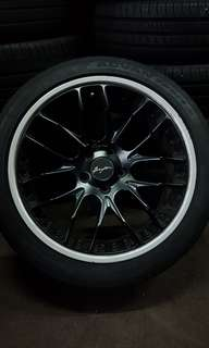 "Breyton Germany 19"" staggered rims and tyres"