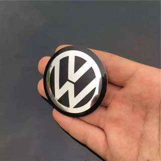 🚚 原廠 VW福斯車系鋁圈蓋輪圈  中心 貼紙GOLF5 6代 TIGUAN PASST SCIROCCO mk jetta