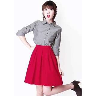 (L) AforArcade Skirt in Red