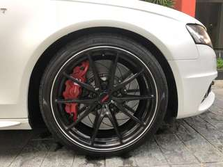 "Audi Rims Volk Racing G25 Forged Rims 19"" with new Pirelli PZero Tyres"