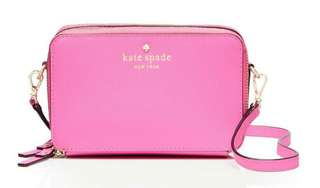 Authentic Kate Spade PWRU4778-679 Women's Cedar Street Carine Removable Strap Rouge Pink Leather Crossbody Shoulder Bag [BNIB]