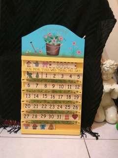 木頭可更換月曆