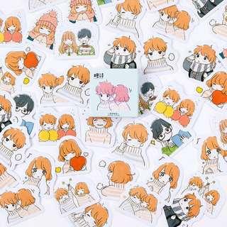 Cute Anime Couple Scrapbook / Planner Stickers #107
