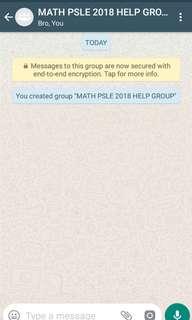 PSLE math study group