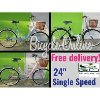 "Free Delivery! 24"" City Bikes ☆ Brand new Dkaln Bicycles"