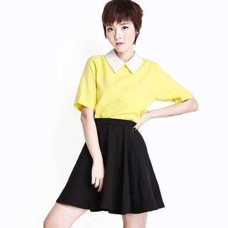 (L) AforArcade Skater Skirt in Black