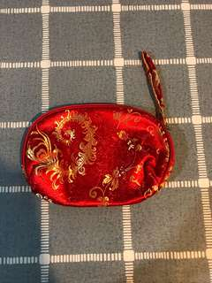 Pouch with oriental design