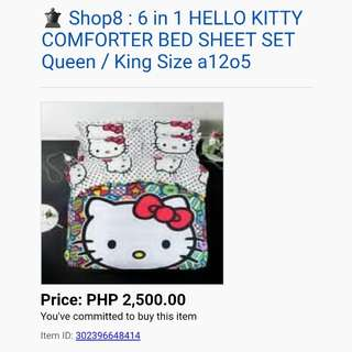 Hello Kitty Bed Sheet and Comforter