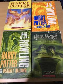 Harry Potter books (4)