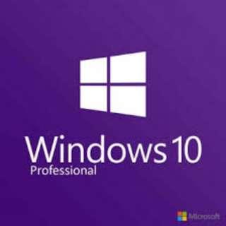 Microsoft Windows 10 PRO for 1 PC