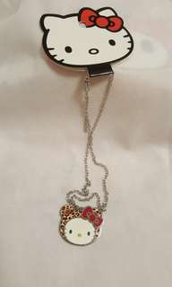 Hello Kitty Loungefly Leopard Necklace