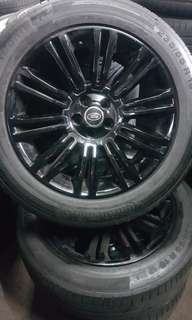 "Land rover 19""  rims and tyres"