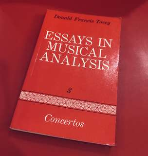 Essays in Musical Analysis, Vol.3 Concertos, by Donald Francis Tovey