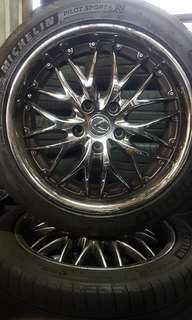 "Lexus 17"" rims and tyres"
