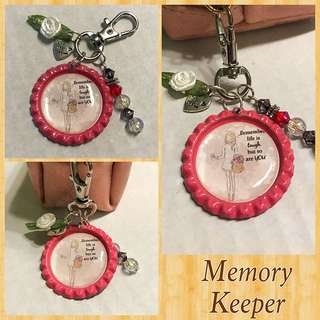Handmade Bag Charm Key Chain - Inspirational Sayings Range