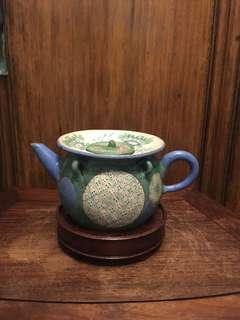 舊宜興彩繪紫砂茶壺