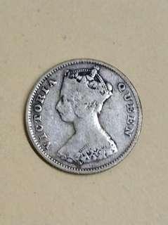 1898年 一毫港幣 銀製品 寶真