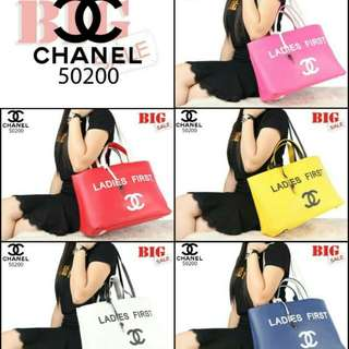 Tas CH*N*L Ladies First Shopping Tote Soft Leather 50200  (04)*